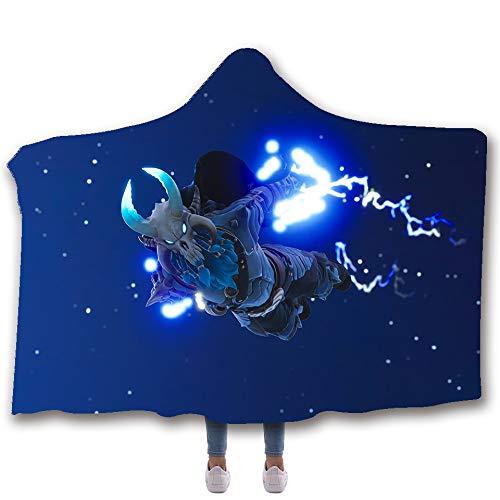 "Allan J Beasle Super Soft Hooded Blanket Allan J Beasle Super Soft Hooded Blanket, Ragnarok Max Full Armor Skydive Fortnite 3D Printed Comfortable Wearable Warm Cozy Throw Blanket, Blanket for Kids Adults 60""x80""/50""x60""."