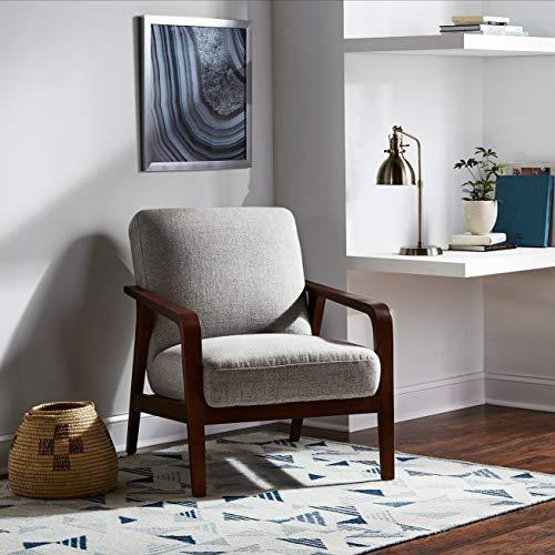 Rivet Modern Geometric Triangle Wool Rug, 5' x 8', Blue Ivory