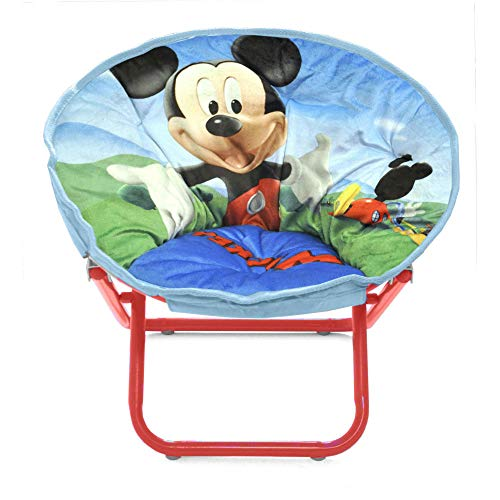 Saucer Chair for Kids Anime Steel Polyester Lounge