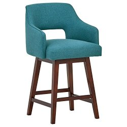 Rivet Malida Mid-Century Open Back Swivel Counter Stool