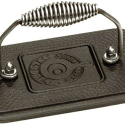 "Lodge Rectangular Cast Iron Grill Press. 6.75 x 4.5"" Cast Iron Grill"