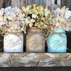 Mason Canning JARS & Wood ANTIQUE WHITE