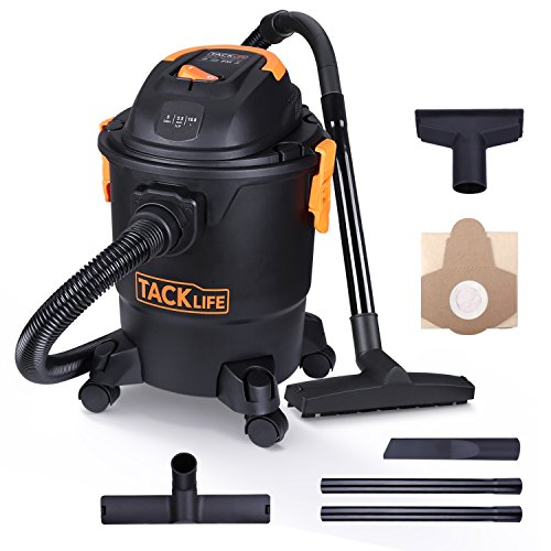 Tacklife Wet Dry Vacuum 5 Gallon, 5.5 Peak HP