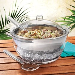 Home Essentials 5 PC Jumbo Stainless Steel Salad Bowl