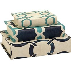 IMAX Hadley Book Boxes in Cream/Blue - Set of 3