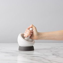 Chef'n Mortar and Pestle (Marble/Anthracite Silicone)