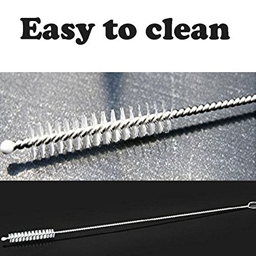 Set of 12 Stainless Steel Straws, Reusable Metal Drinking Straws