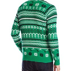 Blizzard Bay Men's Black Rooster Ugly Christmas Sweater Blizzard Bay Men's Black Rooster Ugly Christmas Sweater, Green/White/Red/Black, Large.
