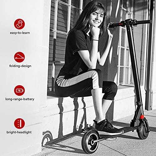 """XPRIT 6.5"""" Foldable Electric Kick Scooter with Bright Front LED"""