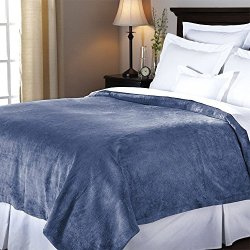 Heated Blanket Luxurious Velvet Plush