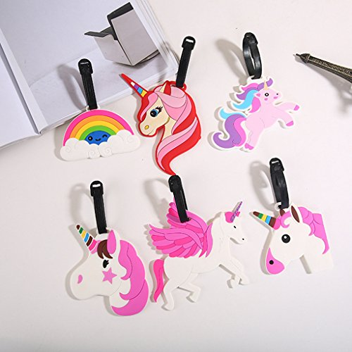 Aigemi Unicorn Luggage Tags Suitcase Labels Bag - Set of 3