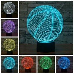 3D Illusion Glow Deco Light Touch Control 7 Colors