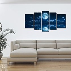 Yin Art 5-Panel Landscape Split Canvas Print Wall Art Set
