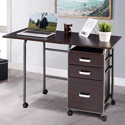 Wheeled Home Office Furniture with 3 Drawers