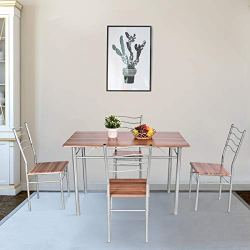 Tangkula 5 Piece Dining Set