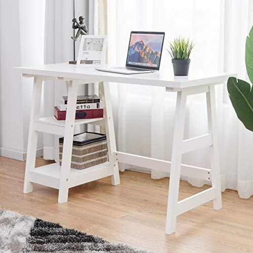 Writing Study Desk, Trestle Desk Laptop PC Desk