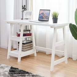 Writing Study Desk, Trestle Desk Laptop PC Desk