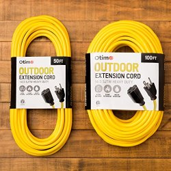 Otimo 100 ft 14/3 Outdoor Heavy Duty Extension Cord