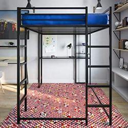 DHP Abode Full-Size Loft Bed Metal Frame