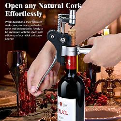 Wine Bottle Opener Set Corkscrew - Manual Rabbit Wine