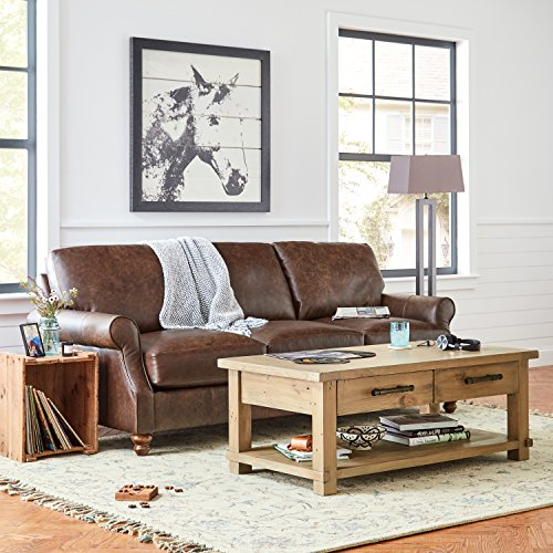 "Stone & Beam Ferndale Rustic Coffee Table, 51""W, Pine"