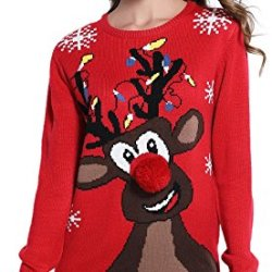 *daisysboutique* Women's Christmas Cute Reindeer