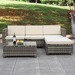 Tangkula 5 Piece Outdoor Patio Furniture Set
