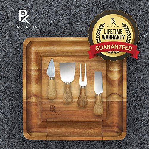 Cheese Board and Knife Set | 100% Teak (NO CHEAP BAMBOO)