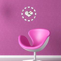 DIY Loving Heart Wall Clock Sticker Set Removable