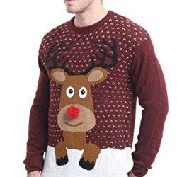 Daisysboutique Men's Holiday Reindeer Snowman