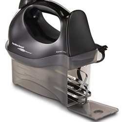 Hamilton Beach Hand Mixer with Snap-On Case, Black
