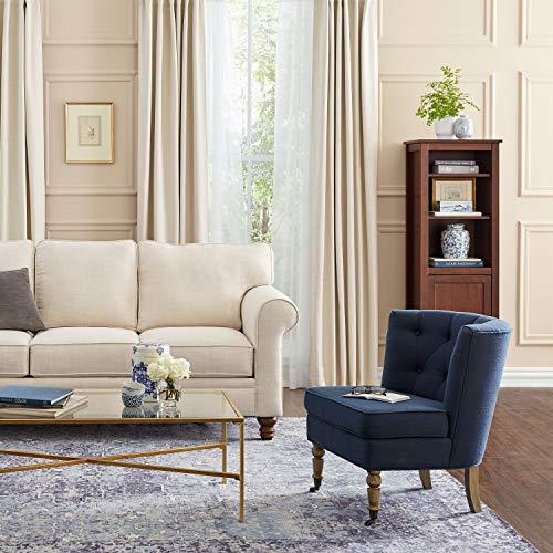 Ravenna Home Armless Tufted Turned Wood Leg Accent Chair