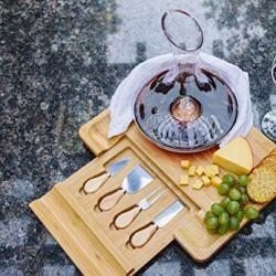 100% Natural Bamboo Cheese Board and Cutlery Set