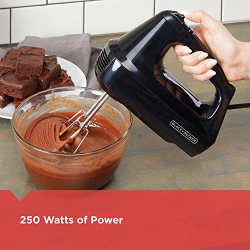 BLACK+DECKER 6-Speed Hand Mixer with 5 Attachments