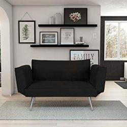 Novogratz Leyla Loveseat, Multifunctional and Modern Design