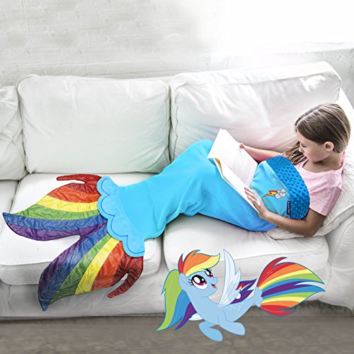 My Little Pony Seapony Blanket in Rainbow Dash