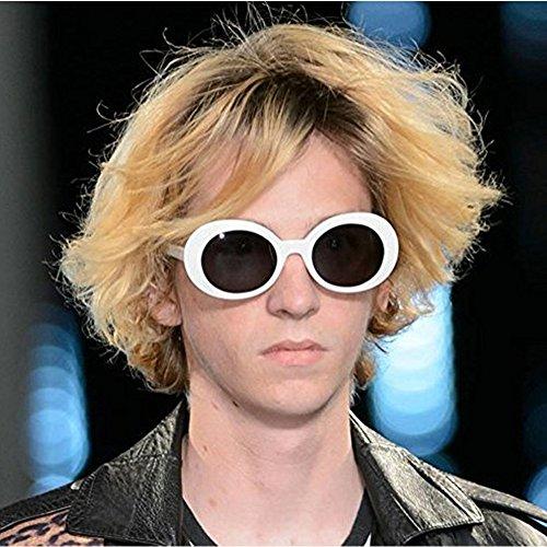 Aigemi 2018 Unisex Bold Retro Oval Classic Sunglasses