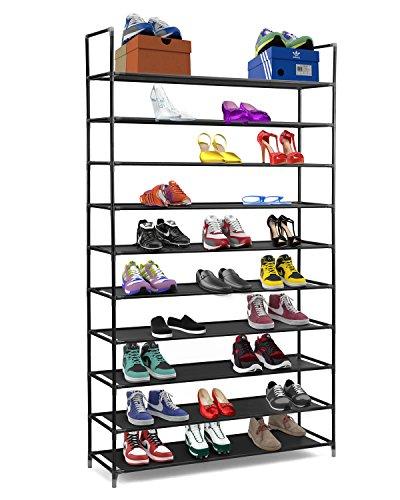 Halter 10 Tier Stackable Shoe Rack Storage Shelves