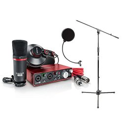 Focusrite SCARLETT Studio Pack Microphone, Headphones