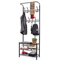 Coat Shoe Rack 3-Tier Shoe Bench