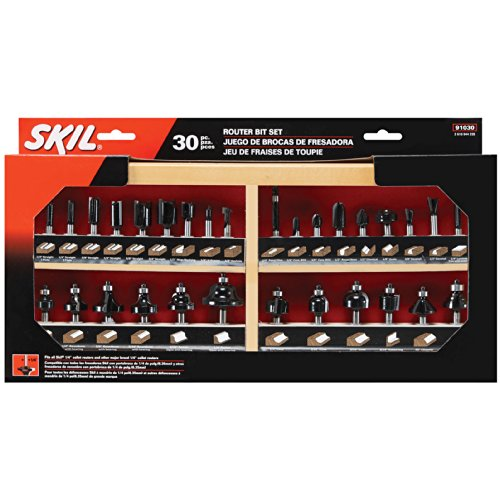 SKIL Carbide Router Bit Set, 30-Piece