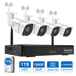 [2019 Newest]Security Camera System Wireless