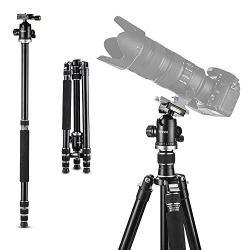 Tycka Professional 1670mm Aluminum Camera Tripod, 12kg Load Capacity