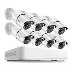 ZOSI 8CH 5.0MP HD Security Cameras System 2TB Hard Drive