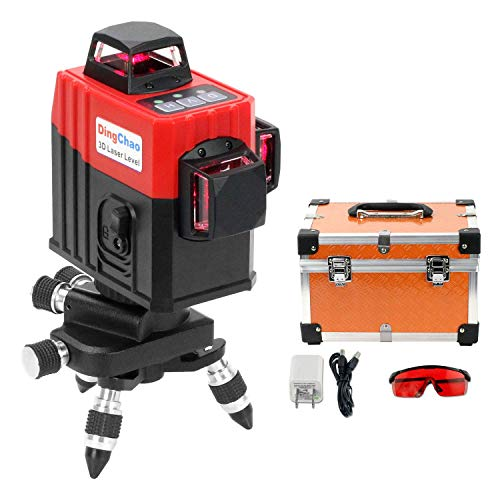DINGCHAO Self-Leveling 360 Line Laser Level for Construction