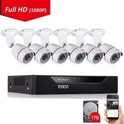 Tonton 8CH Full HD 1080P Security Camera System