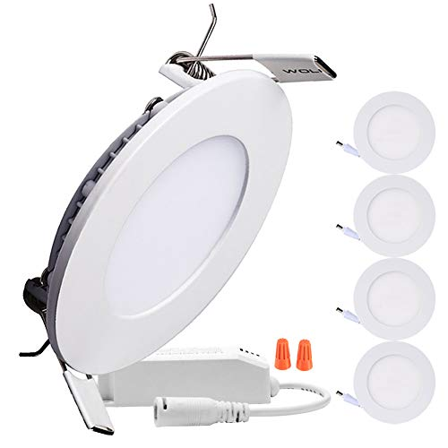 B-right Pack of 5 Units 18W 8-inch Dimmable Round LED