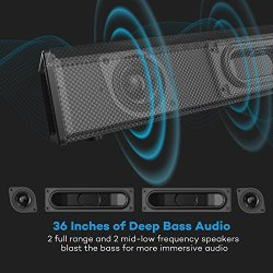 Soundbar, 36-Inch 4 Speakers Strong Bass