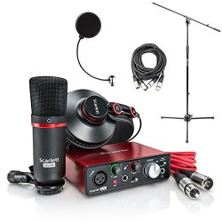 Focusrite Scarlett Solo Studio Pack 2nd Gen & Recording