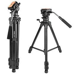 "Kamisafe KINGJOY VT-1500 65""/166cm Adjustable Camera Video Tripod Legs"
